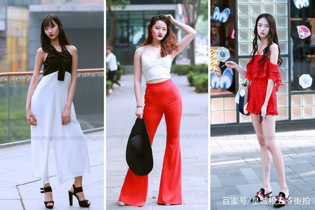 街拍:精致的女孩子,永远都懂得如何打扮自己