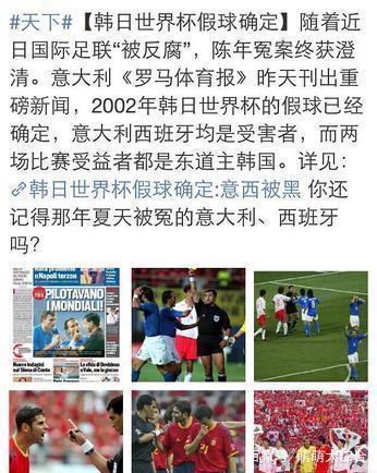韩国名记称02年世界杯韩国没有黑哨,靠的是希