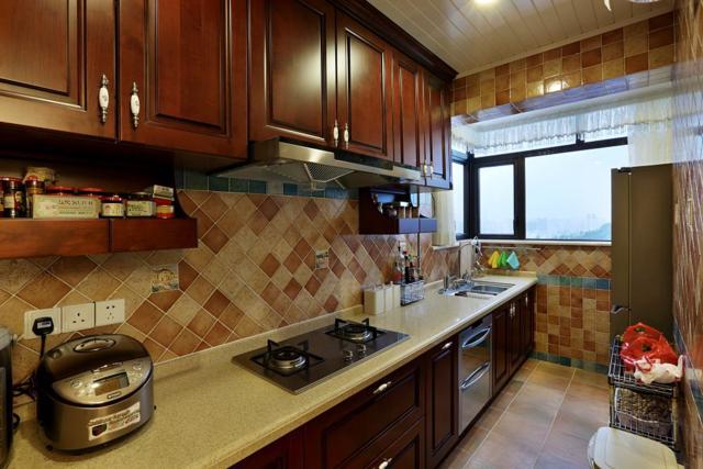 乐至装修公司厨房装修水槽的展示