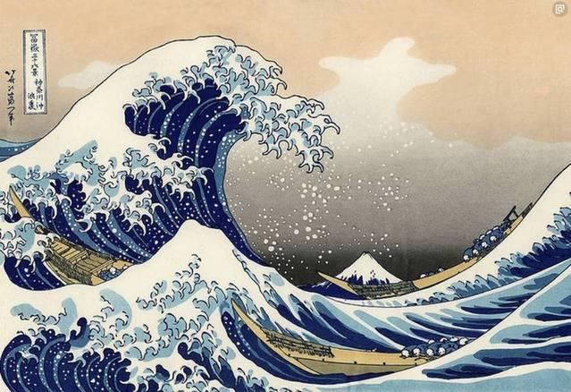 名画鉴赏:《神奈川冲浪图》的作者有多牛,梵高都临摹过他的作品