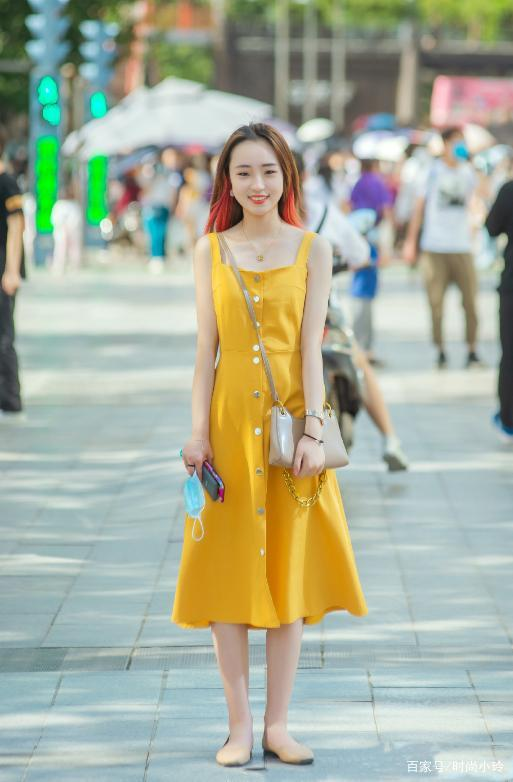 夏季參照穿搭色彩,黃色裙子的魅力,趕走穿搭煩惱
