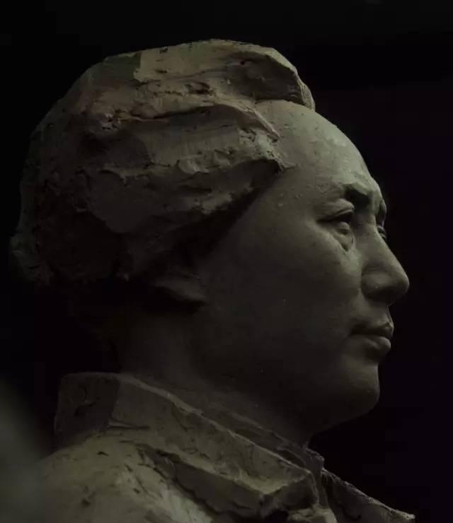 毛主席铸铜人物肖像雕塑