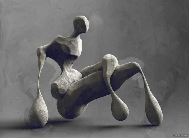 欧洲抽象人体雕塑是想