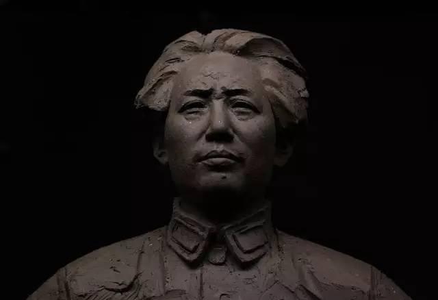 毛泽东铸铜人物肖像雕塑