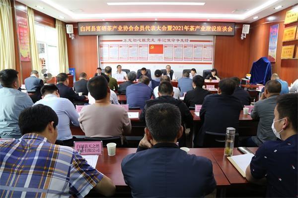 白河:召開富硒茶產業協會會員大會暨2021年茶產業座談會