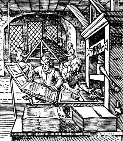 历史:欧洲中世纪晚期的印刷机工艺!