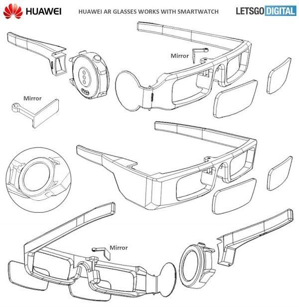 华为智能眼镜新专利曝光 可嵌入智能手表