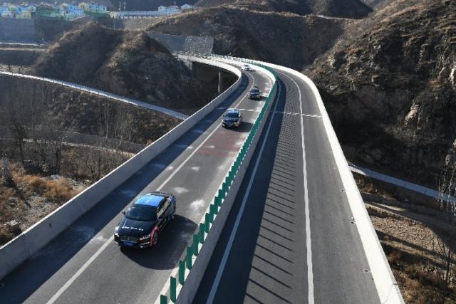 百度自动驾驶汽车在山西阳泉高速开展测试