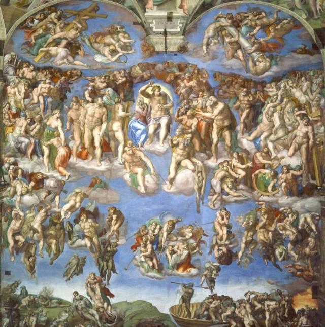 世界名画赏析―梵蒂冈西斯廷圣堂巨型祭台圣像画《最后的审判》