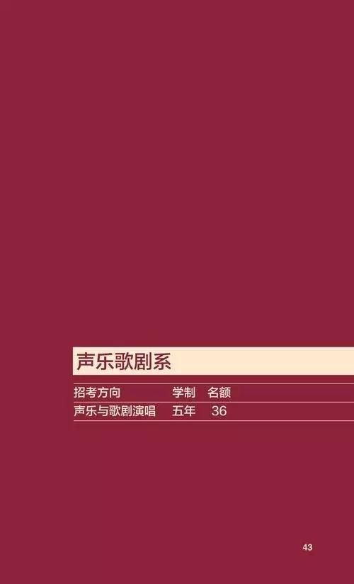 中央音乐学院2018年本科招生简章公布!