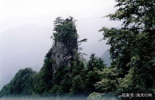 汉中八景之天台夜雨