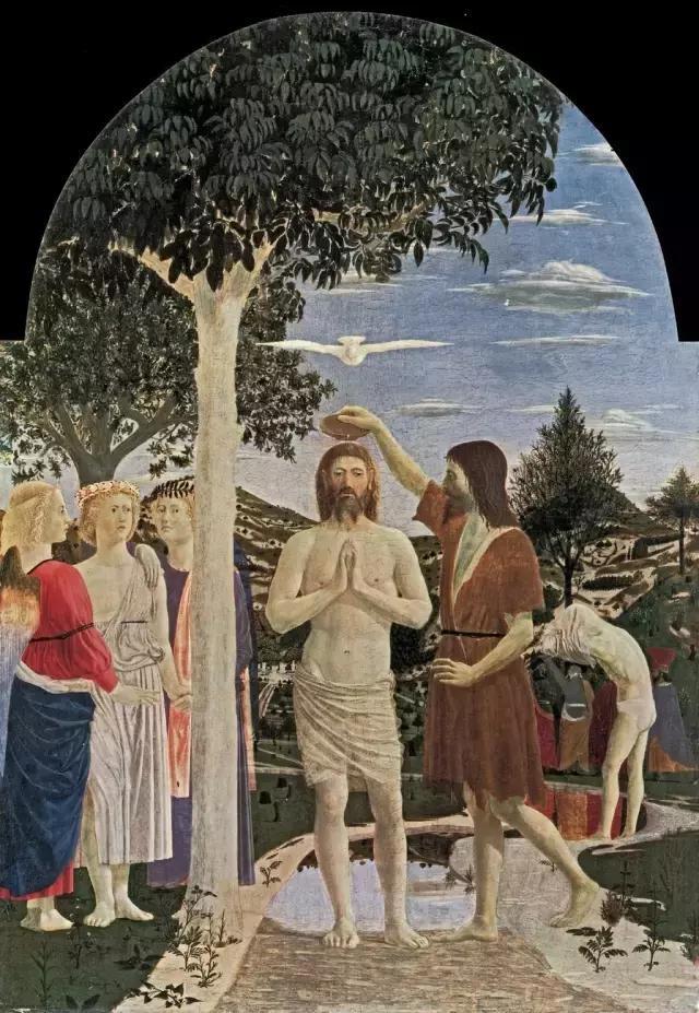 世界名画基督受洗礼