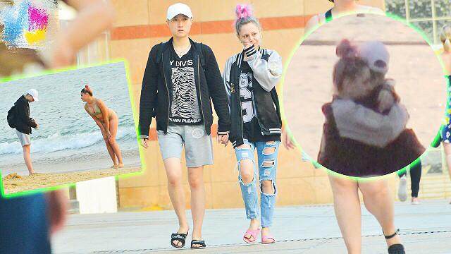 小龙女吴卓林帮女友拍照引路人围观,都怪女友泳装Look太吸睛 ...(3)