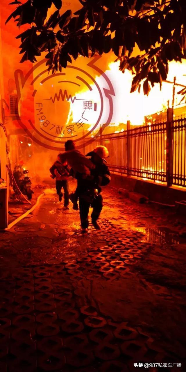 福州台江区民房着火火光冲天太吓人【图】 台江大火怎么烧起来的