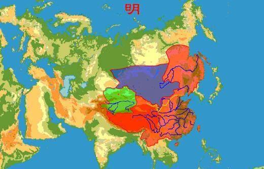 中国古代地图到底有多大?一张图让你了解历史