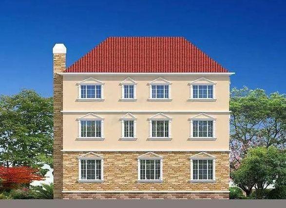 豪华经典欧式别墅三层设计带烟囱 农村建这样的别墅才好看