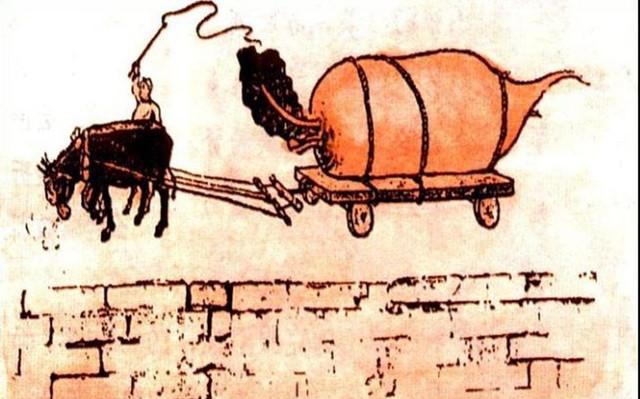 大跃进宣传画,肥猪赛大象,萝卜用车拉!