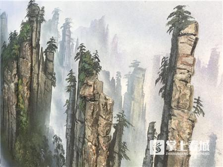 2.7亿年前的石头彩沙能作画 还自带3D效果!