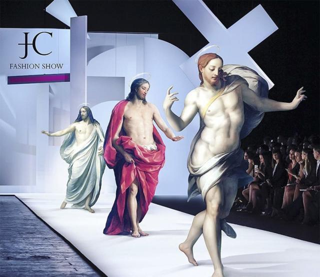 """将古典名画上的人物放置于现代世界""""耶稣的会议""""很接地气!"""