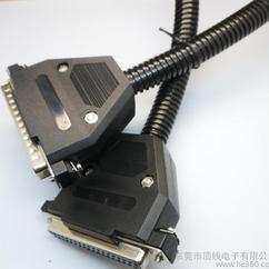 双壁玻纹管 专业生产DB37公对母延长线 大对数D-SUB37信号线装配式套玻纹管