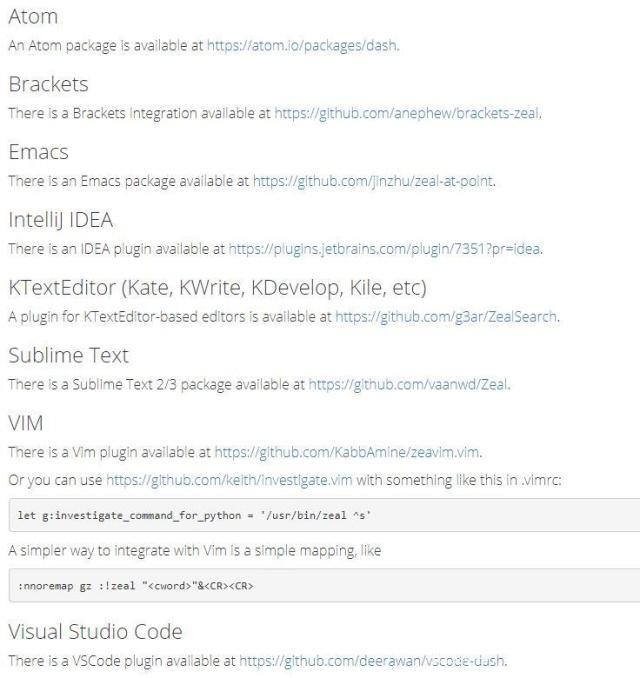 一个超棒的编程手册管理软件Zeal,已支持194种编程文档