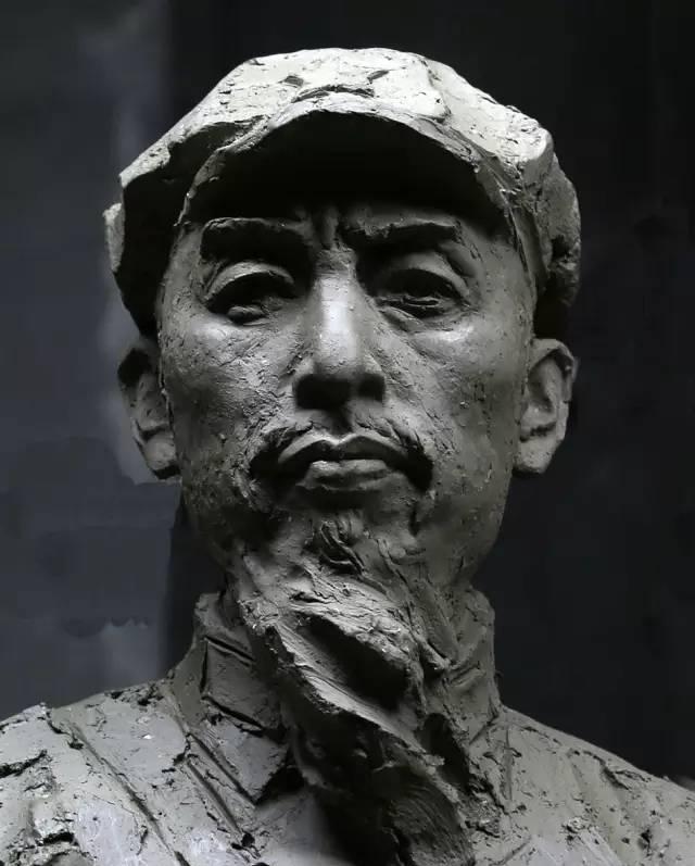 留胡子周恩来铸铜人物肖像雕塑