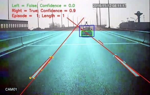 图11. 实时压线检测