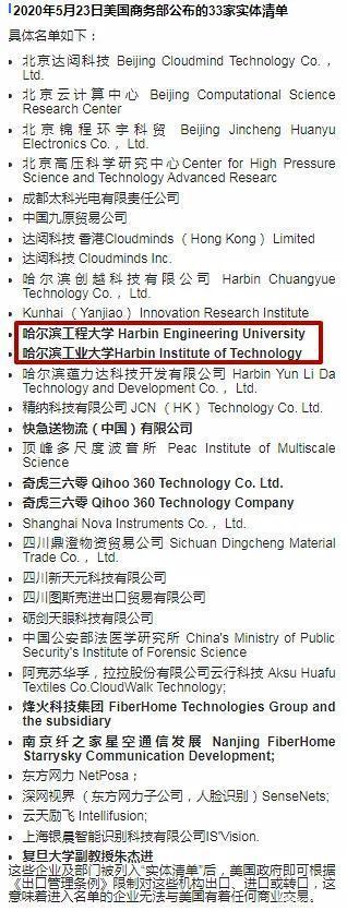 """13所中国大学凭实力进美国""""实体清单"""",分数线或将水涨船高!"""