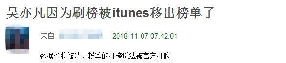 吴亦凡新曲被itunes移出榜单