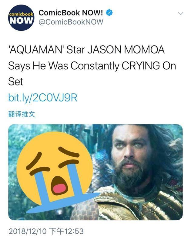 海王经常在片场哭是怎么回事?海王扮演者杰森在片场遭遇了什么?