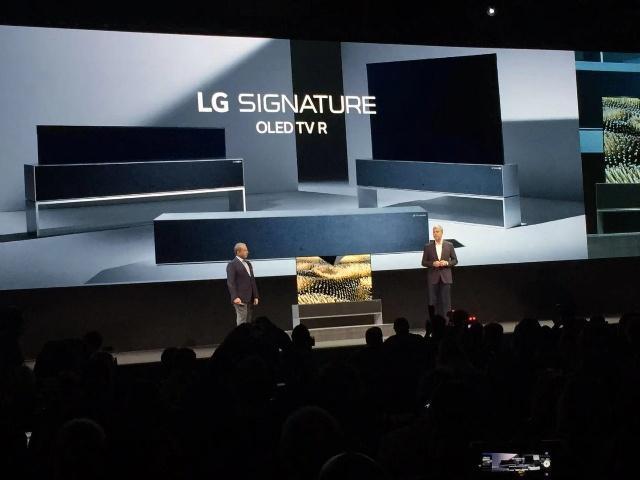 震撼!LG发布全球首款可卷曲OLED电视!最快三月底开卖!-芯智讯