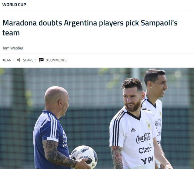 马拉多纳:不相信球员架空桑保利,那还要教练干嘛