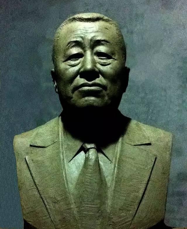 刘光烈铸铜人物肖像雕塑