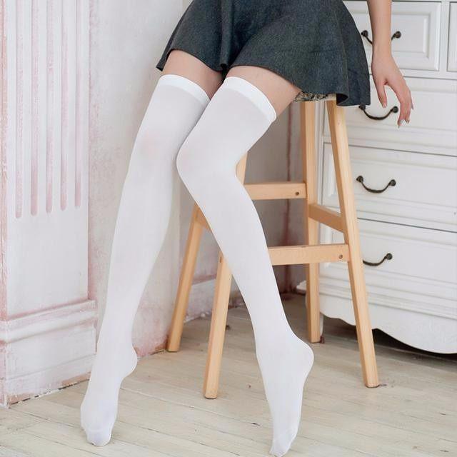 日本学生过膝中长筒袜,为美而生-轻博客