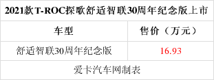 2021款T-ROC探歌新車上市 售16.93萬元