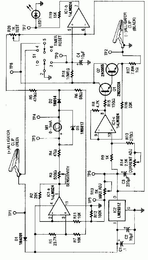 汽车应急启动电源原理图
