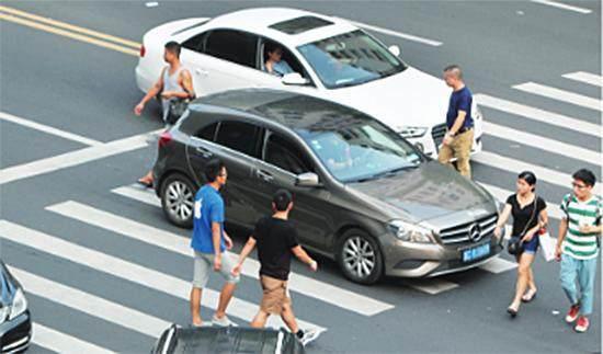 开车过斑马线,开车未礼让行人,开车不礼让行人,违章查询网,查询违法交通的网站