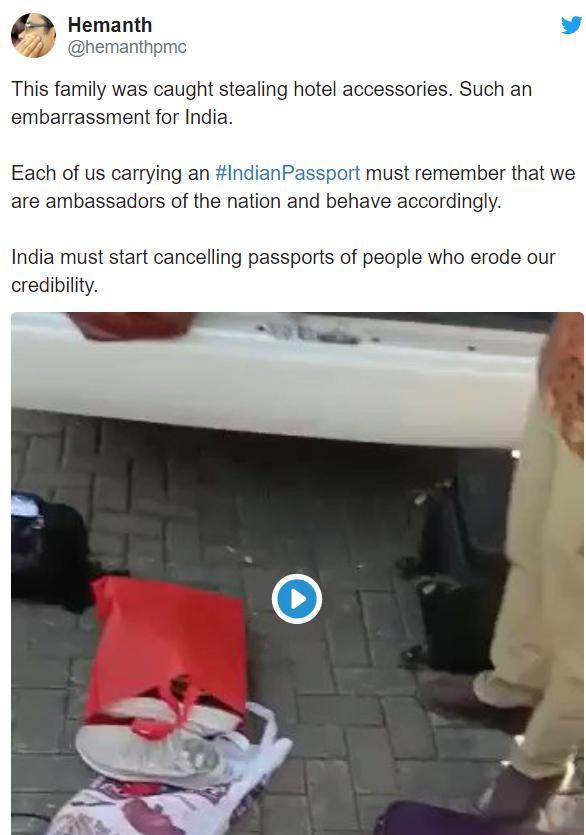 全部顺走!一群印度游客在巴厘岛盗窃酒店用品被抓