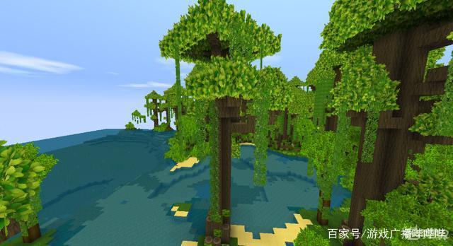 迷你世界更新雨林地圖,增加四種新的植物,玩法又多瞭
