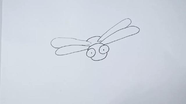 蜻蜓简笔画 蜻蜓涂色漂亮的图片大全