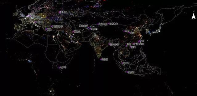 卫星遥感揭秘全球夜光