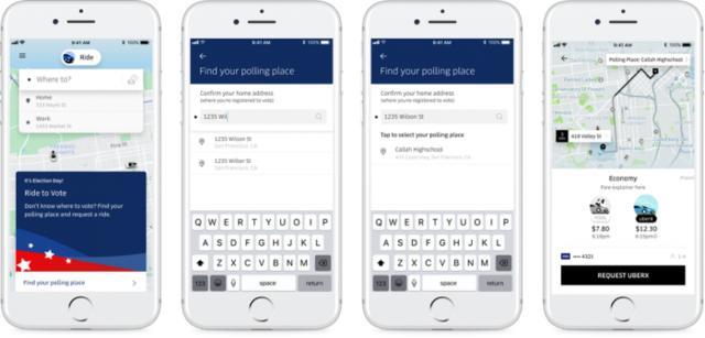 Uber与Lyft将为中期选举提供投票站地点指引
