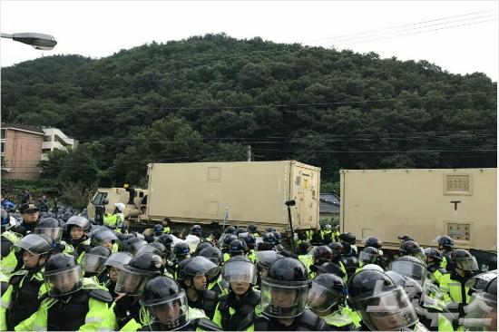 """""""萨德""""基地冷到哭!韩军方拟出动50辆卡车装暖气"""