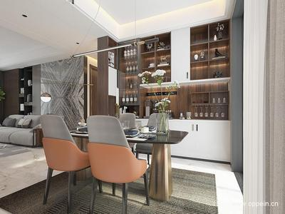 一站搞定餐厅空间,0元定制方案。餐边柜、酒柜、餐桌椅应有尽有